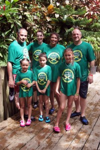 Andy, Laura, Madeline, Rod, Lana, Logan and Bethany at Dunn's River.